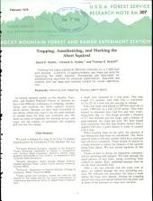 Trapping, anesthetizing, and marking the Abert squirrel