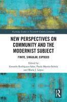 New Perspectives on Community and the Modernist Subject PDF
