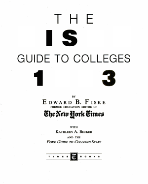 Fiske Guide to Colleges   93