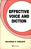 Effective Voice and Diction