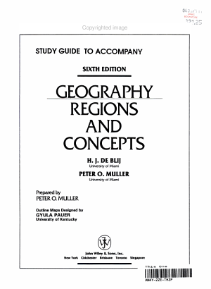 Geography Regions and Concepts, Study Guide