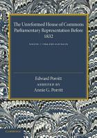 The Unreformed House of Commons PDF