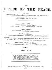 Justice of the Peace: Volume 52
