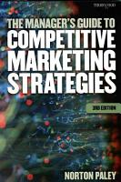 The Manager s Guide to Competitive Marketing Strategies PDF