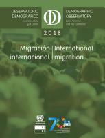 Latin America and the Caribbean Demographic Observatory 2018 Observatorio demogr  fico Am  rica Latina y el Caribe 2018 PDF