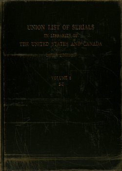 Union List of Serials in Libraries of the United States and Canada PDF