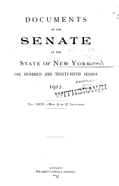 Documents of the Senate of the State of New York: Volume 24