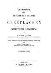Grundzüge einer allgemeinen Theorie der Oberflächen in synthetischer Behandlung: Band 3