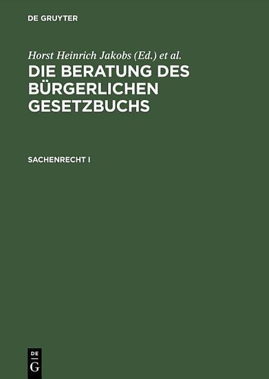 Sachenrecht I PDF