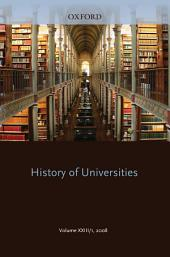History of Universities : Volume XXIII/1: Volume XXIII/1