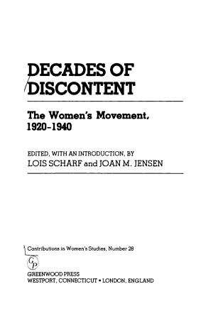 Decades of Discontent PDF