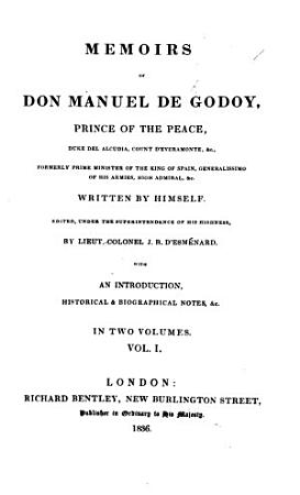 Memoirs of Don M  de G      written by himself  edited     by Lieut  Colonel J  B  D Esm  nard  With an introduction  historical and biographical notes  etc PDF