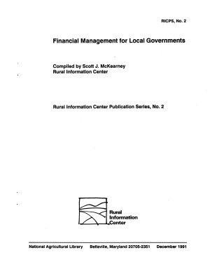 Financial Management for Local Governments PDF