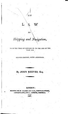 The Law of Shipping and Navigation