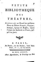 Les fetes de l'amour et de Bacchus, pastorale, de Quinault, musique de Lully