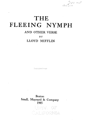 The Fleeing Nymph: And Other Verse