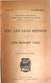 Zinc and Lead Deposits of the Upper Mississippi Valley