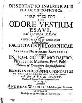 De odore vestium Esaui
