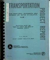 Route 290 Relocation, DeWitt and Manlius, Onondaga County: Environmental Impact Statement, Part 1