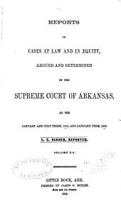 Reports of cases at law and in equity argued and determined in the Supreme Court of Arkansas: Volume 15