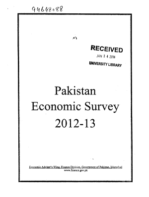 Pakistan Economic Survey PDF