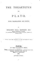 The Theaetetus of Plato