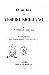 La guerra del Vespro siciliano scritta da Michele Amari
