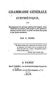 Grammaire générale synthétique