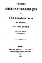 Profils critiques et biographiques des 900 représentants du peuple