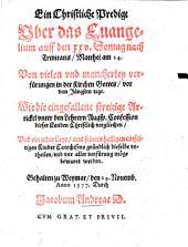 Ein Christliche Predigt über das Evangelium auff den 25. Sontag nach Trinit., Matth. 24: gehalten zu Weymar 1577