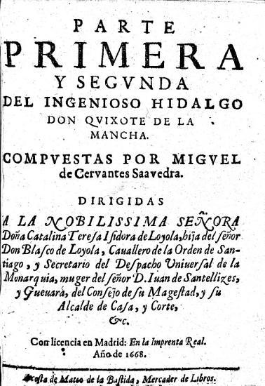 Parte primera y segunda del Ingenioso Hidalgo D  Quixote de la Mancha PDF