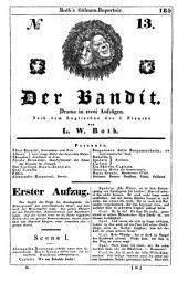 Der Bandit: Drama in zwei Aufzügen