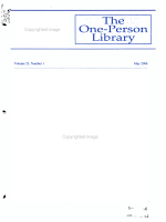 The One-person Library