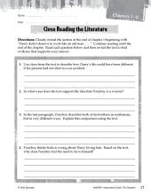 The Outsiders Close Reading and Text-Dependent Questions