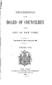 Proceedings of the Board of Councilmen of the City of New York: Volume 108