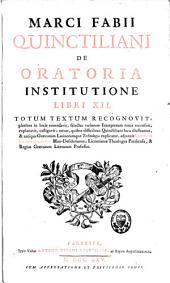 De Oratoria institutione libri XII