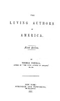 The Living Authors of America  First Series PDF