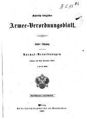 Verordnungsblatt für das k. u. k. Heer: Normal-Verodnungen, Band 2