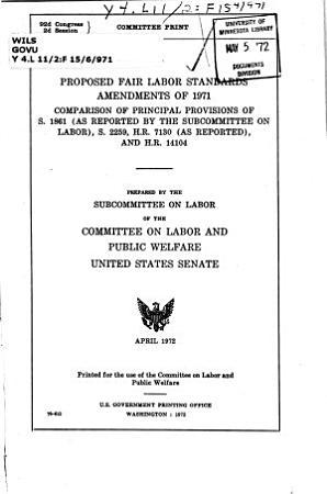 Proposed Fair Labor Standards Amendments of 1971 PDF