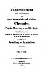 Jahresbericht über die fortschritte der chemie und verwandter teile anderer wissenschaften ...: Teil 2,Seiten 401-866