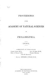 Proceedings of the Academy of Natural Sciences of Philadelphia: Volume 38