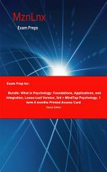 Exam Prep For Bundle What Is Psychology Foundations  Book PDF