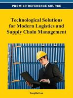 Technological Solutions for Modern Logistics and Supply Chain Management PDF