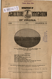 Bulletin - Virginia Department of Agriculture and Immigration: Issue 118