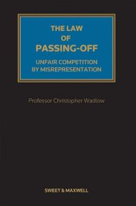 The Law of Passing off Book