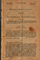 Boundary  United States and Mexico  Message from the President of the United States PDF