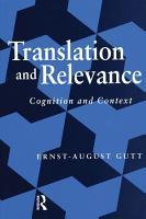 Translation and Relevance PDF