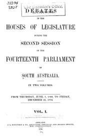 Debates in the Houses of Legislature: Volume 1