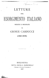 Letture del risorgimento italiano: Volume 1