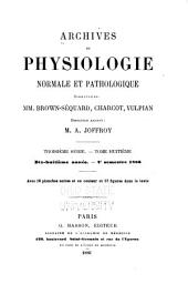 Archives de physiologie normale et pathologique